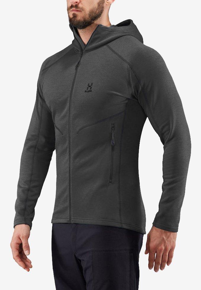 Haglöfs - HERON HOOD MEN - Fleece jacket - slate solid