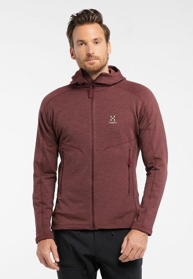 HERON HOOD MEN - Fleece jacket - maroon red