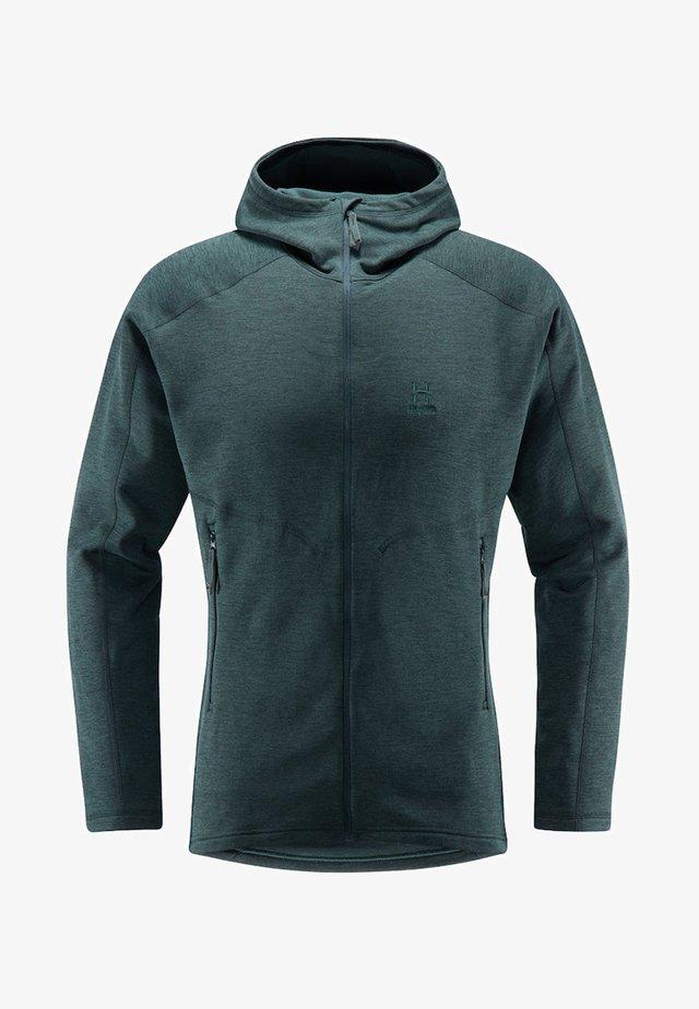 HERON HOOD MEN - Fleece jacket - green
