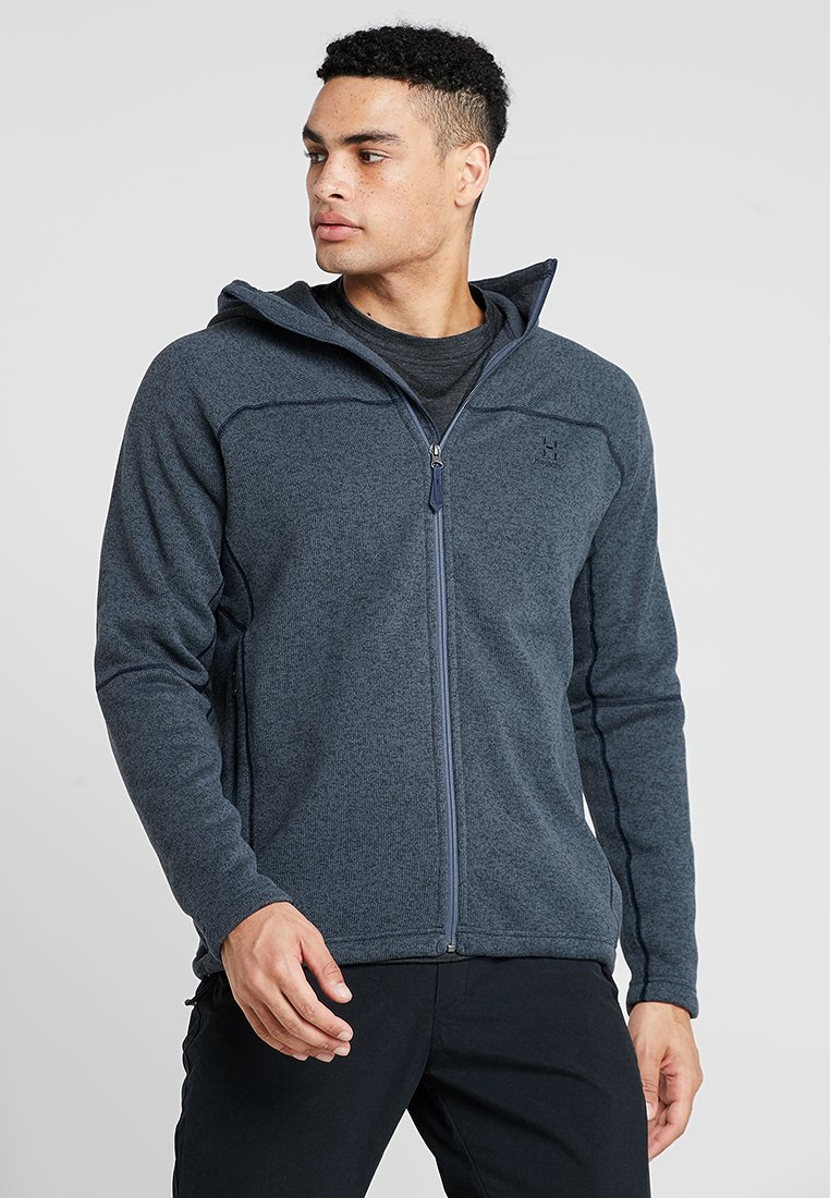 Haglöfs - SWOOK HOOD MEN - Fleece jacket - dense blue