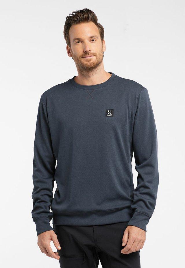 Sweatshirt - dense blue melange