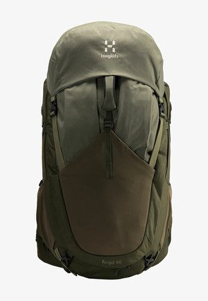 ÄNGD - Hiking rucksack - deep woods/sage green s-m