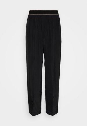 SPRING TROUSER - Spodnie materiałowe - black