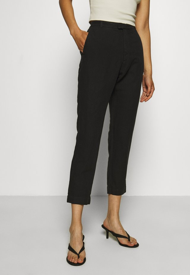 KRISSY EDIT TROUSER - Stoffhose - black