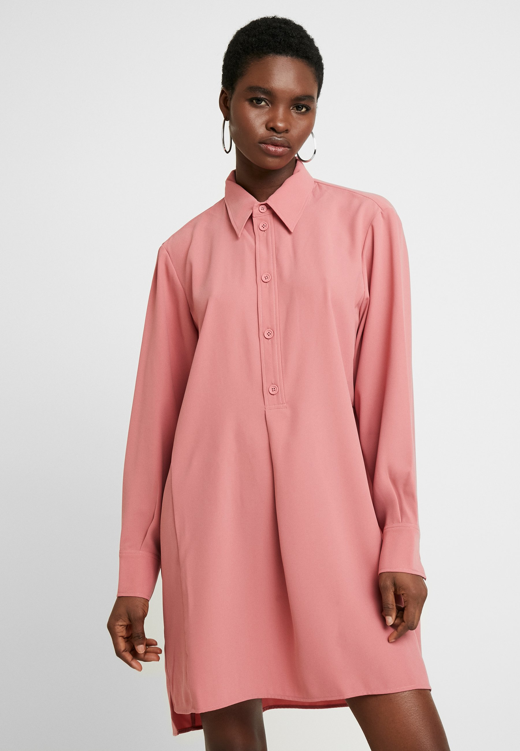 Hope Rail Dress - Skjortekjole Pink