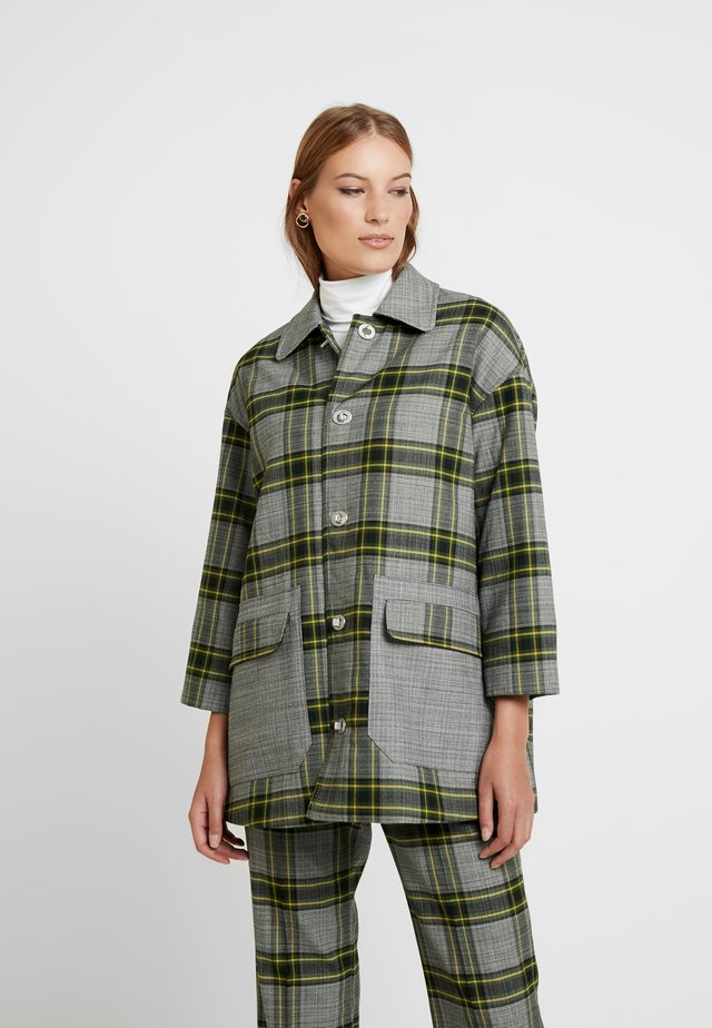 Short coat - green check