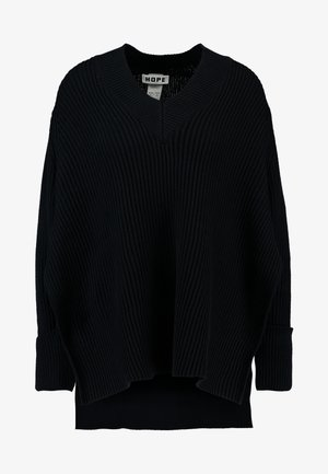 MOON - Strikkegenser - black