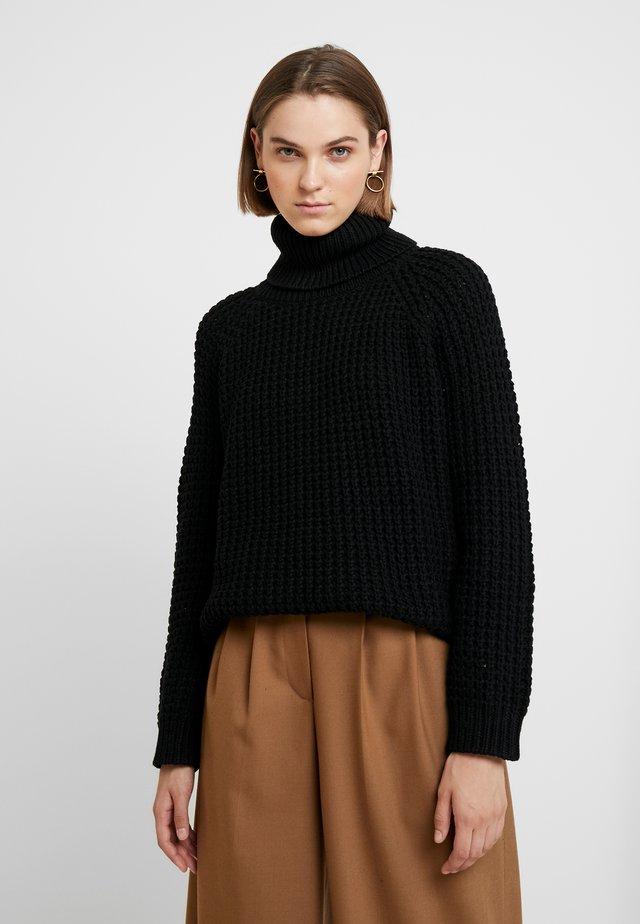 Strickpullover - black