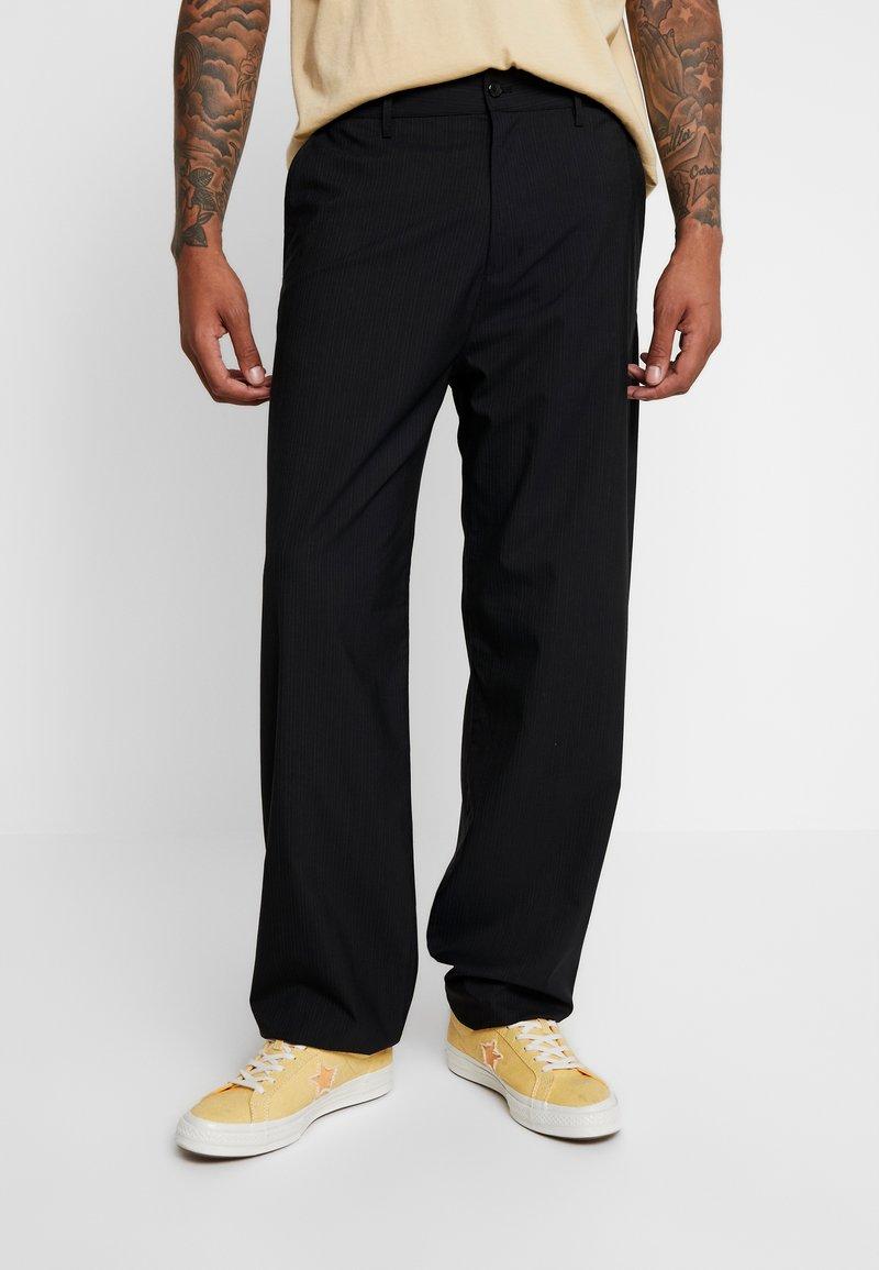 Hope - WIND TROUSER - Trousers - navy stripe