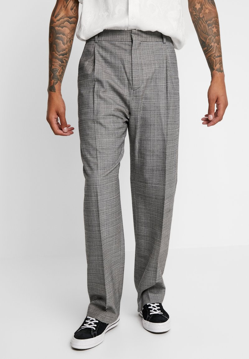 Hope - WELL TROUSER - Suit trousers - grey melange