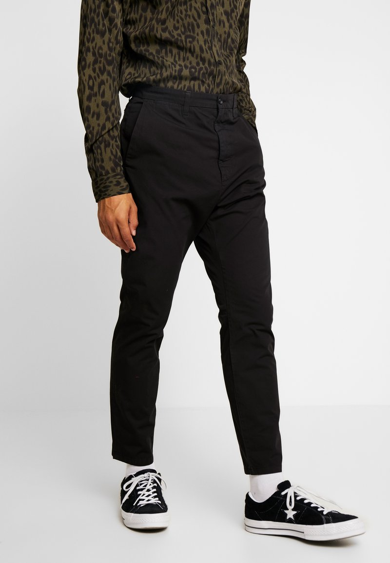 Hope - KRIS TROUSER - Spodnie materiałowe - black