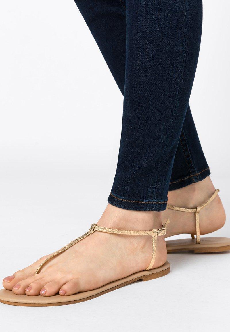 HALLHUBER - Ankle cuff sandals - gold