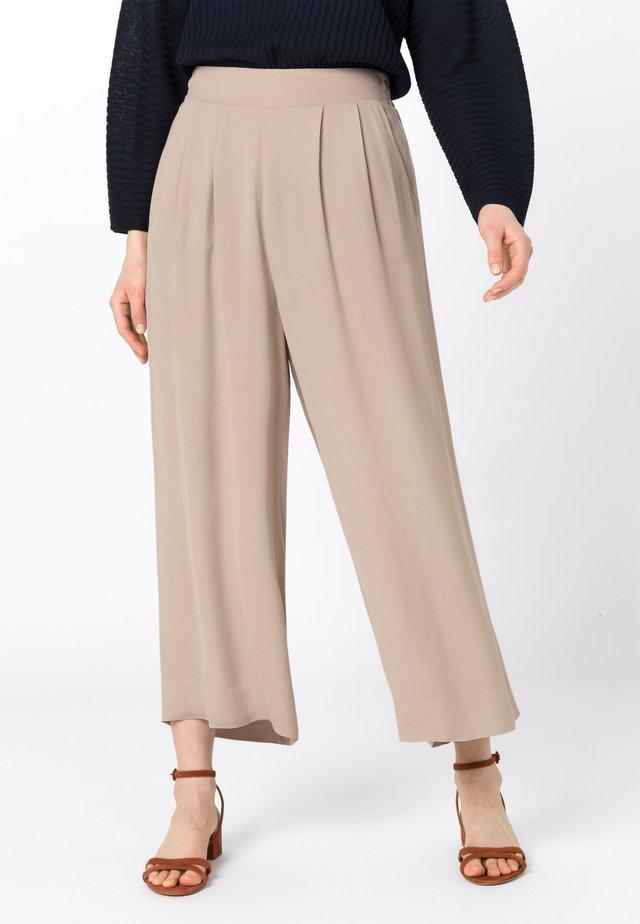 PALAZZO - Pantalon classique - brown