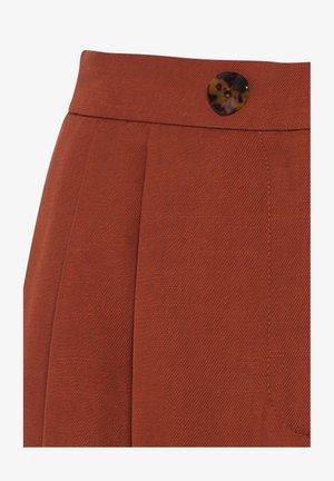 HIGH-WAIST - Pantalon classique - kupfer