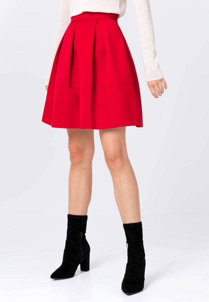 HALLHUBER - A-line skirt - red