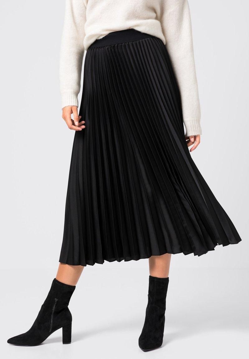 HALLHUBER - Jupe plissée - black