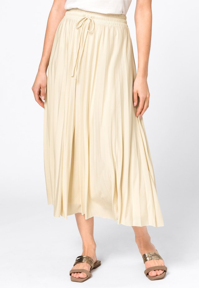 Pleated skirt - champagnekleurig