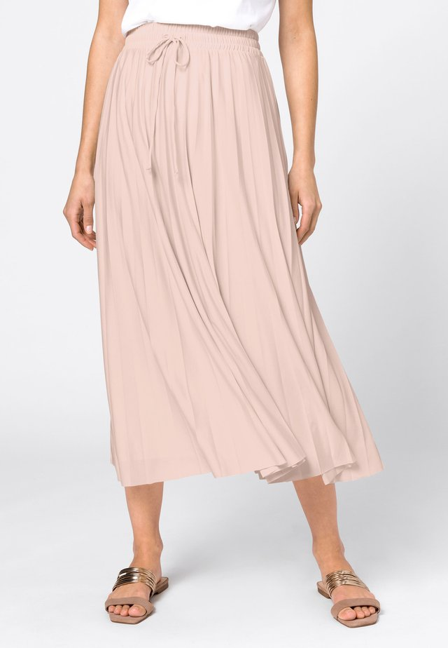 Pleated skirt - rose pâle