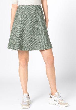 MIT LUREX - A-line skirt - dark green