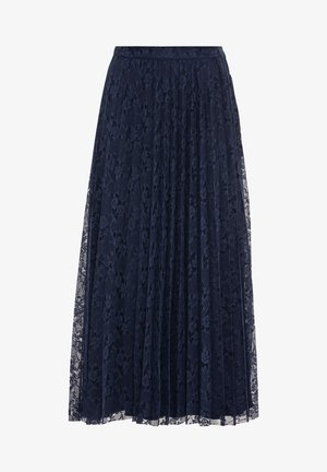 Pleated skirt - indigo