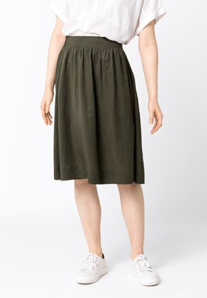 TAILLEN - A-line skirt - olive