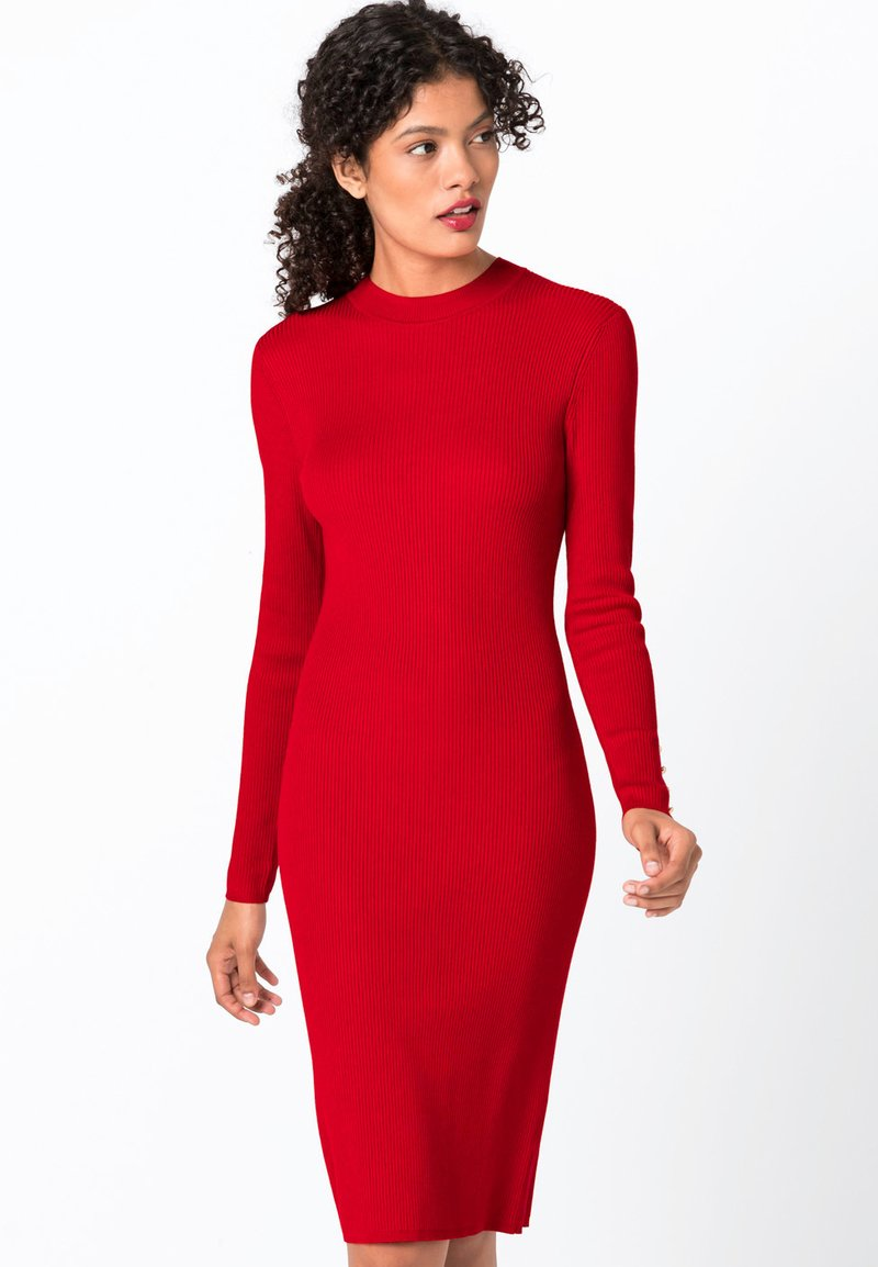 HALLHUBER - MIT ZIERKNÖPFEN - Jumper dress - red