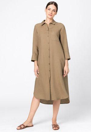 Shirt dress - camel