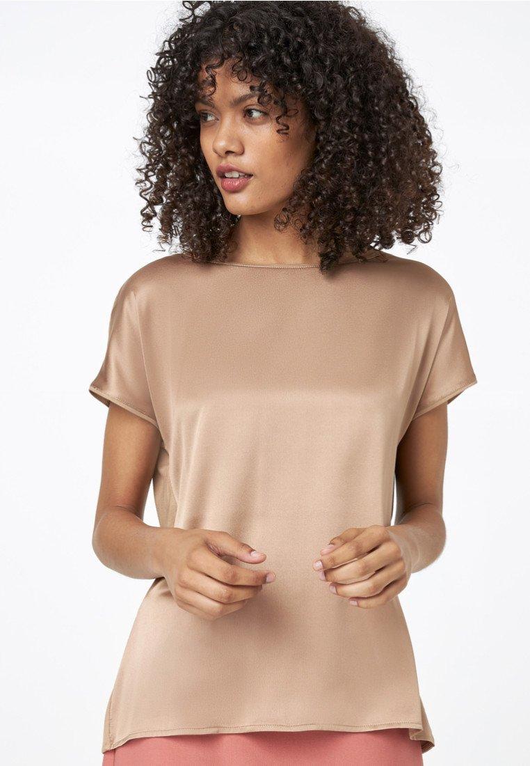 HALLHUBER - T-Shirt basic - camel