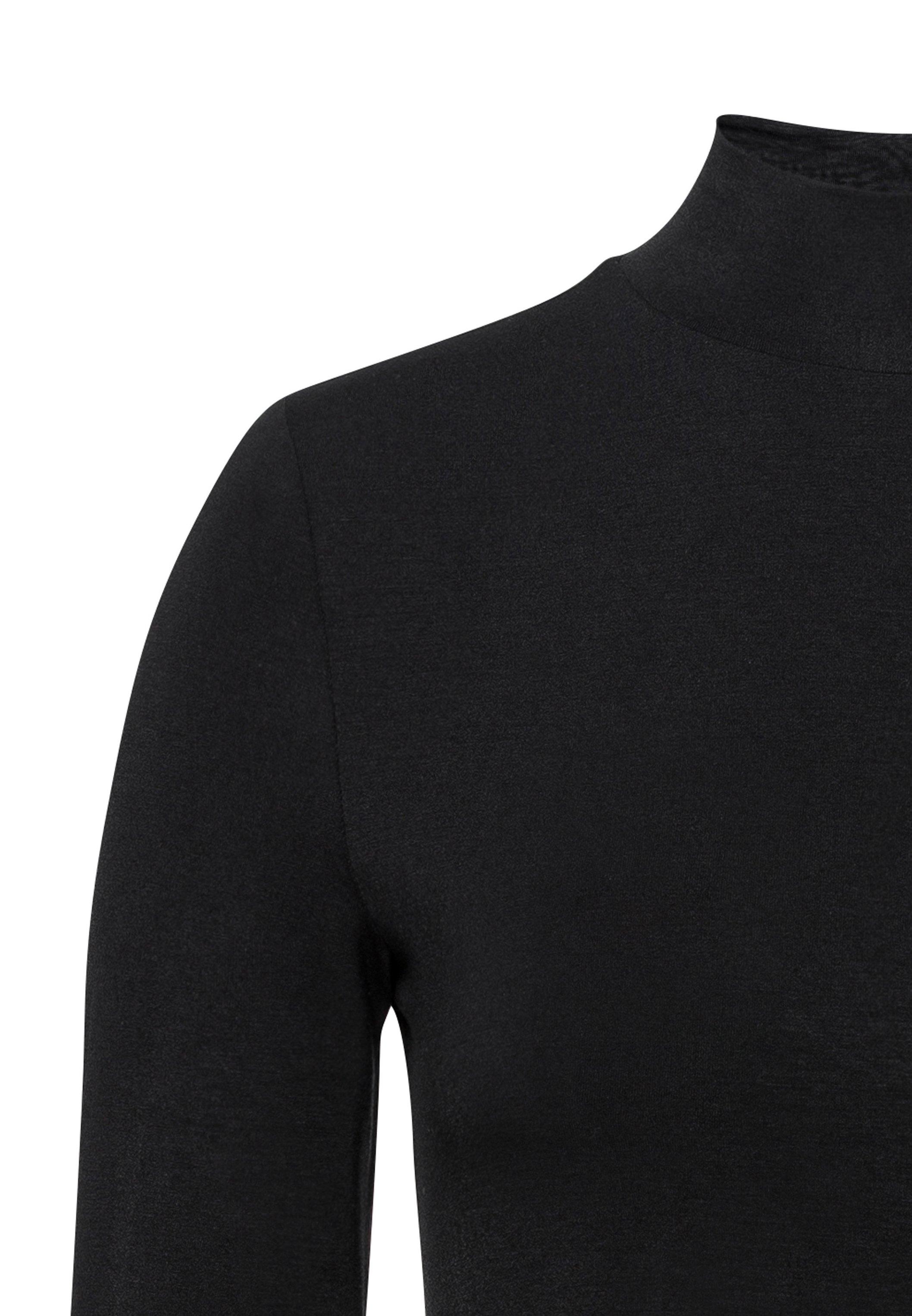 HALLHUBER MIT STEHKRAGEN - Langarmshirt black