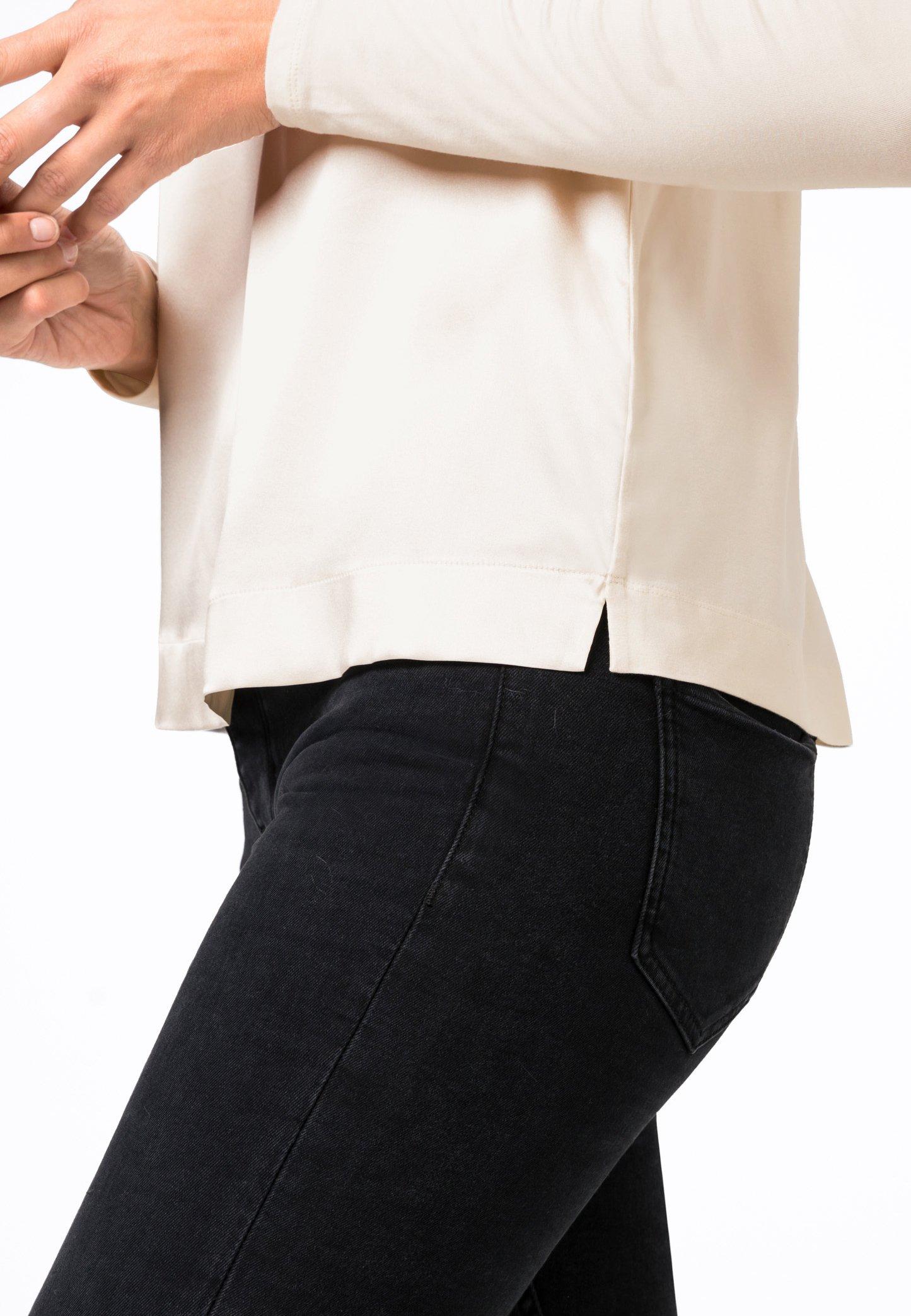 HALLHUBER shirt à manches creme T longues BsrdQCtxoh