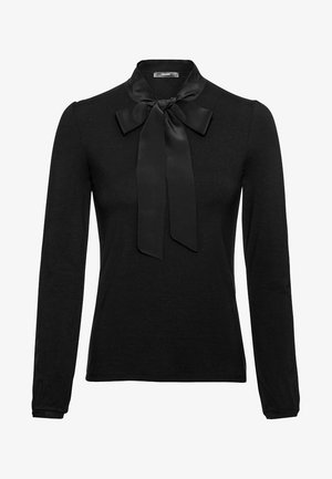 MIT SEIDENSCHLUPPE - Long sleeved top - black