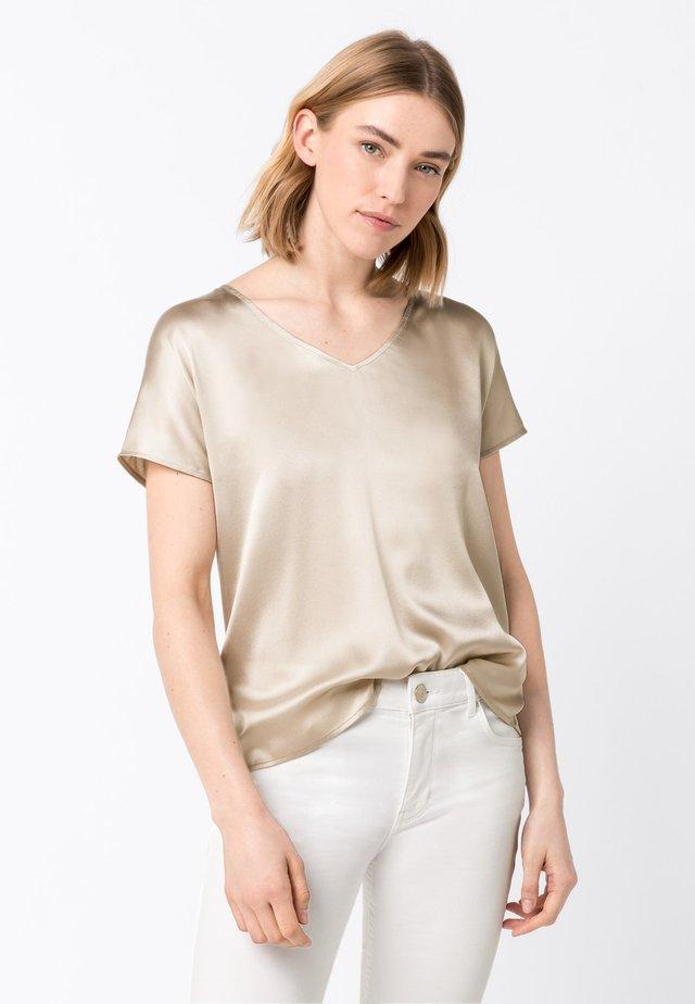 MIT V-AUSSCHNITT - Bluse - white