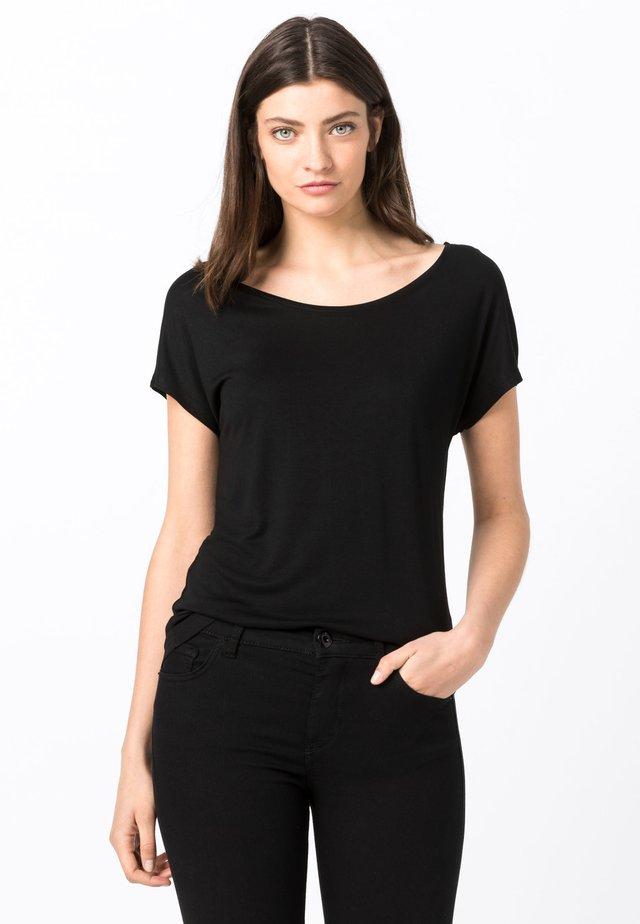 ARRONDIE - T-shirt basique - black