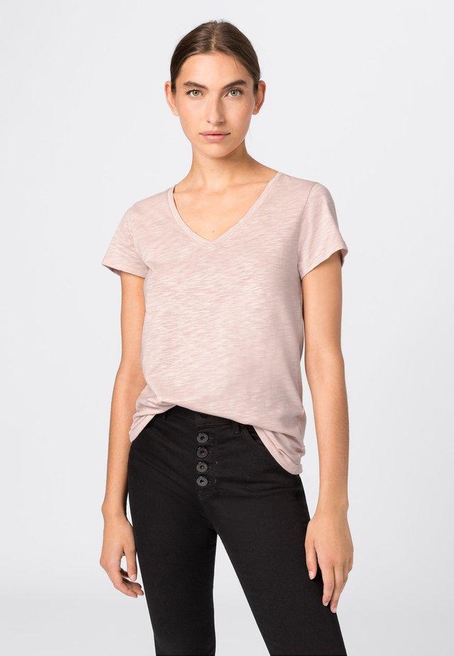 MIT V-AUSSCHNITT - Basic T-shirt - light pink
