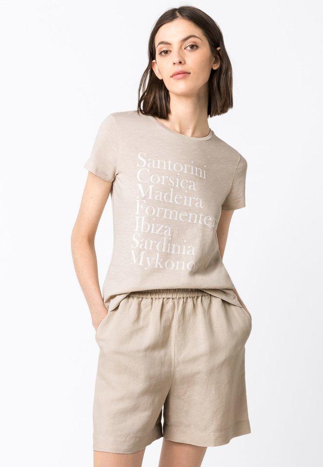 MIT PRINT - T-Shirt print - hellbeige