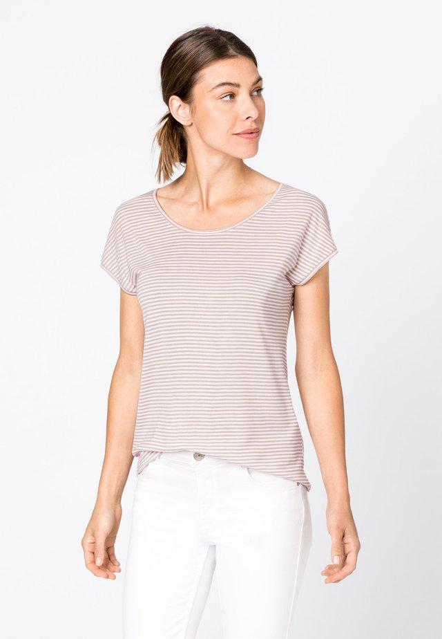 Print T-shirt - zartrosa