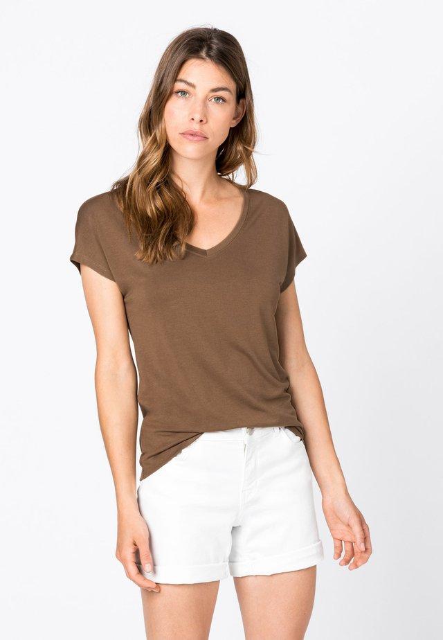 T-Shirt basic - noisette
