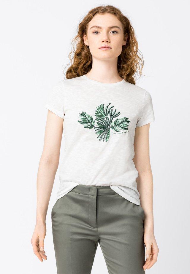 MIT PALMENSTICKEREI - T-Shirt print - hvit