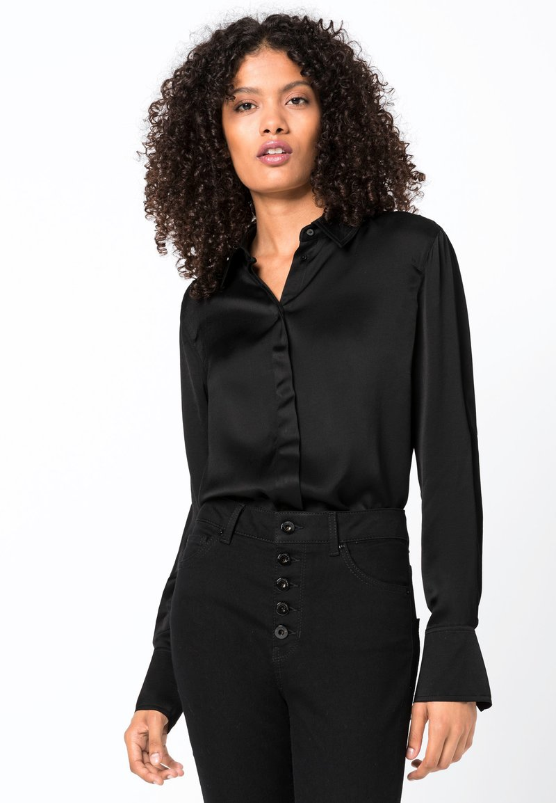 HALLHUBER - Button-down blouse - black