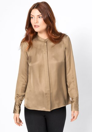 Button-down blouse - camel