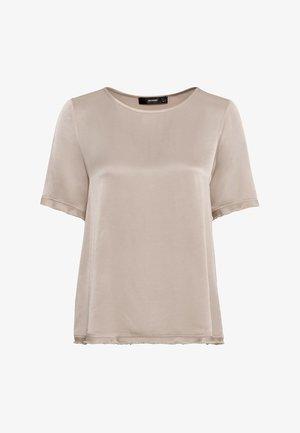 MIT FRANSENKANTEN - Bluse - hellbeige