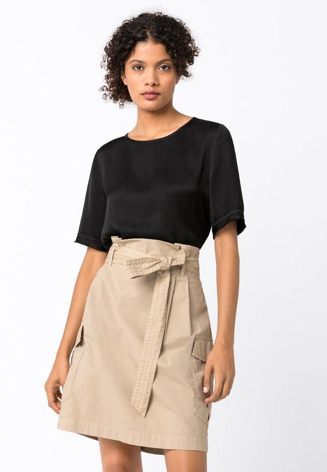 MIT FRANSENKANTEN - Bluse - schwarz