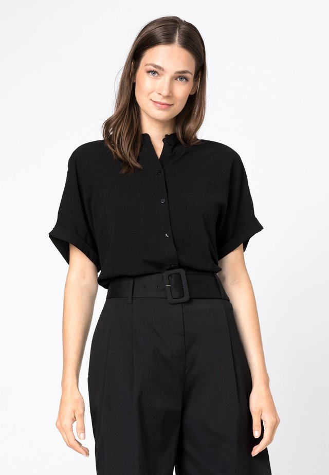 Button-down blouse - zwart