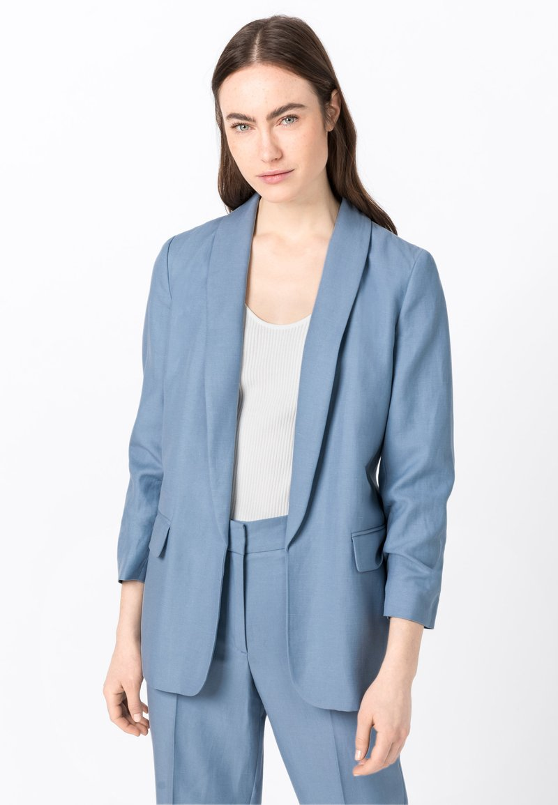HALLHUBER - MIT LEINEN & TENCEL™ - Blazer - light blue