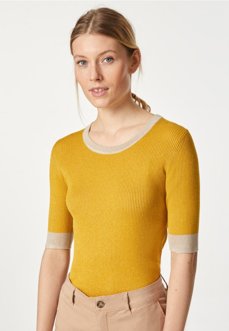HALLHUBER - T-Shirt basic - mustard yellow