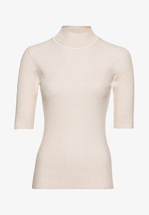MIT HALBÄRMELN - T-shirt basique - cream
