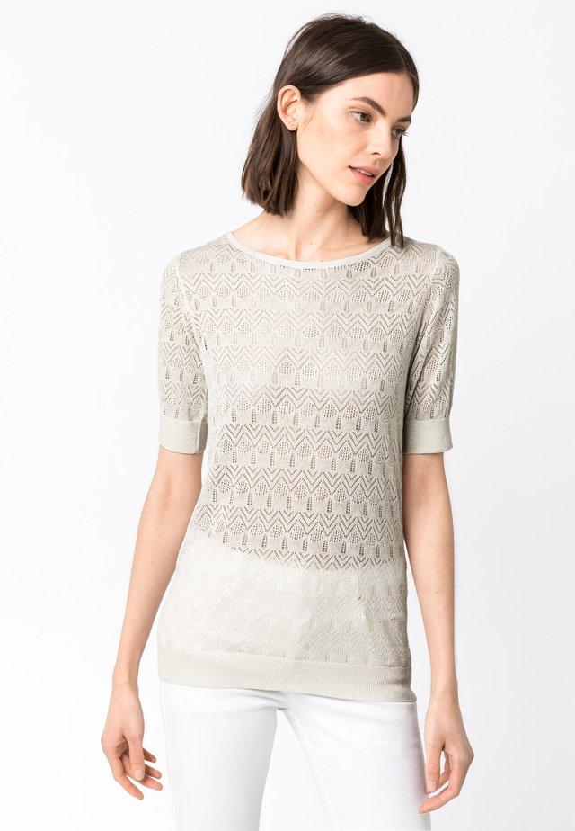 MIT LUREX - T-shirt print - off-white