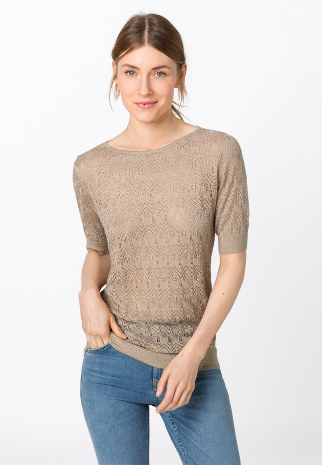 MIT LUREX - T-shirt print - brown