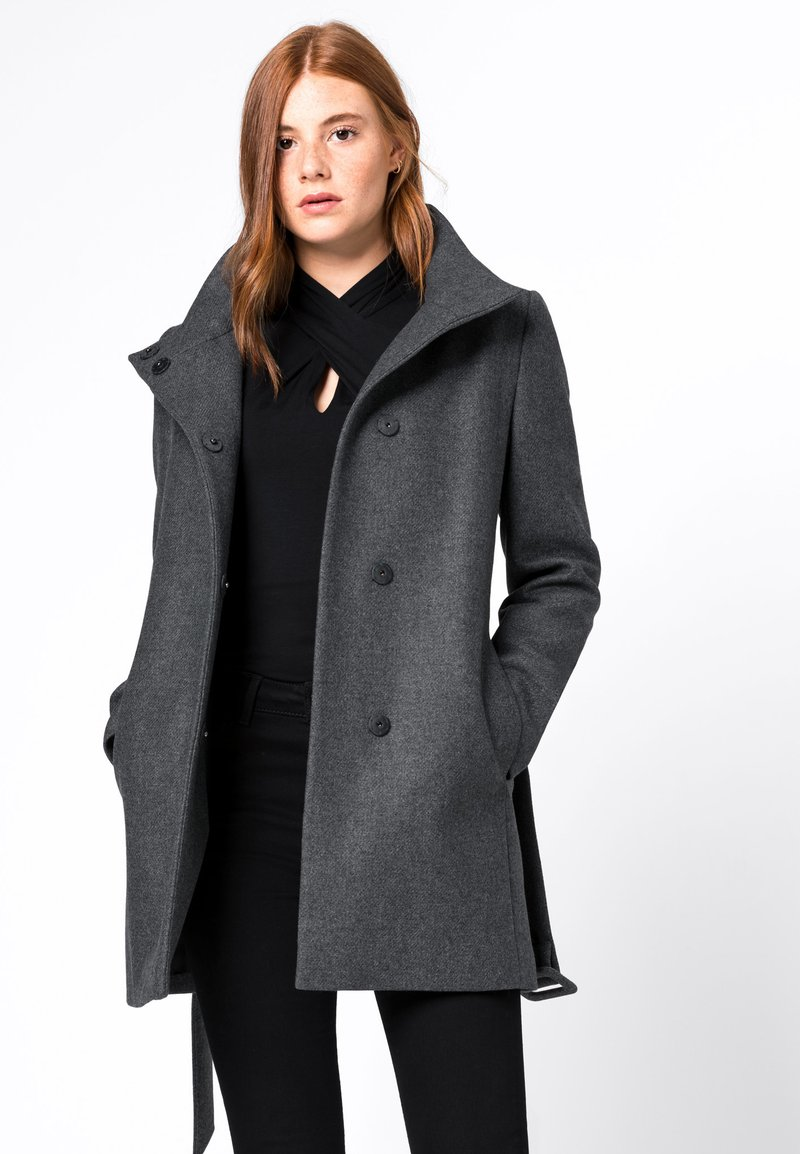 HALLHUBER - Short coat - dark grey