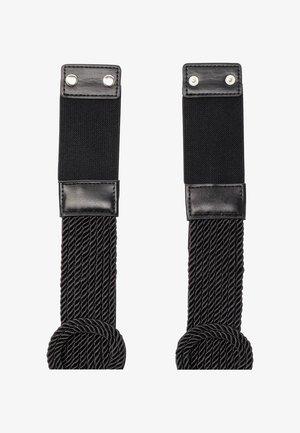 MIT KORDELVERZIERUNG - Waist belt - schwarz